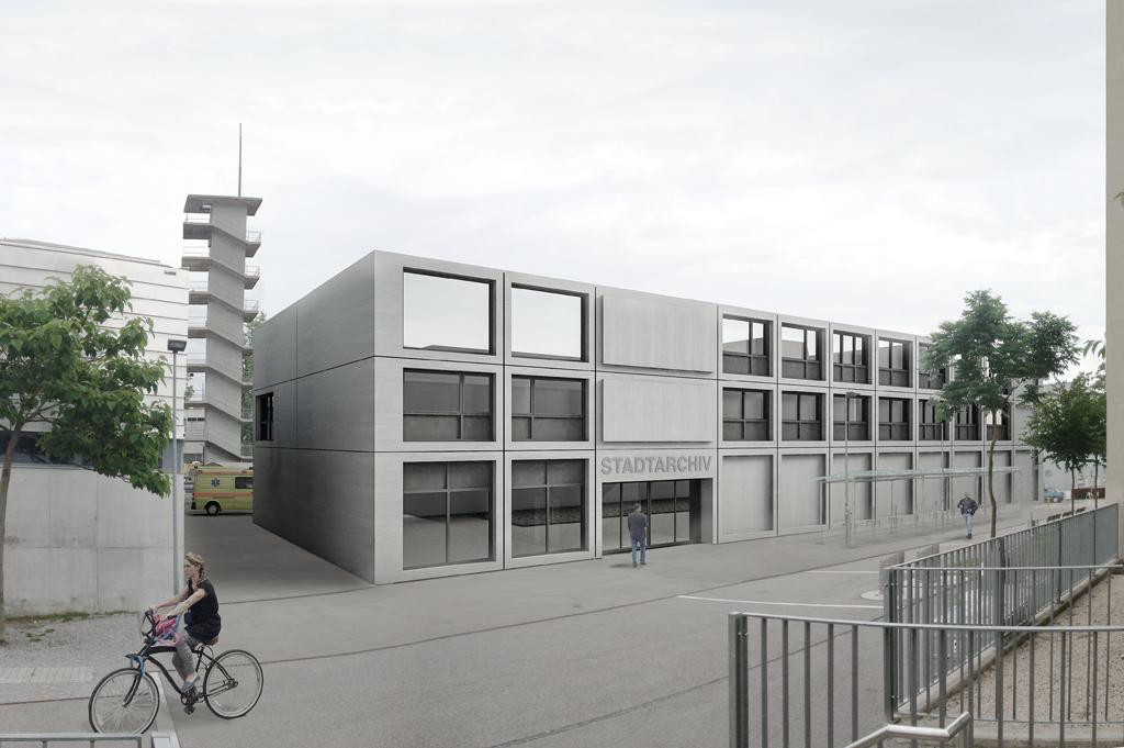 Stadtarchiv und Ambulanzgebäude Biel, Projektwettbewerb
